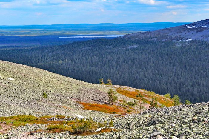 Hiking trails in Finnland with a panoramic views