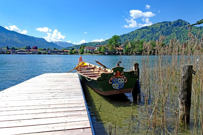 Boat on the beautiful lake Tegernsee