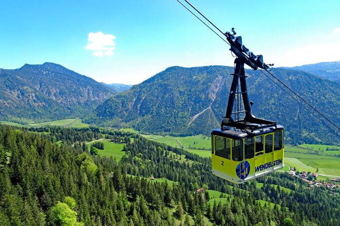 Fantastic hiking view of Wendelstein cable car