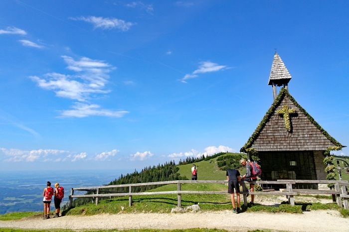 Beautiful chapel in the Chiemgauer Alps