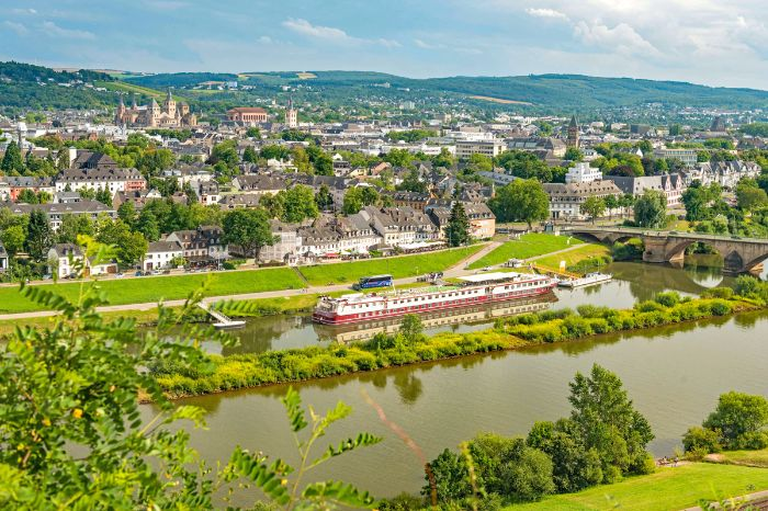 Panoramic view of Trier and the Moselle