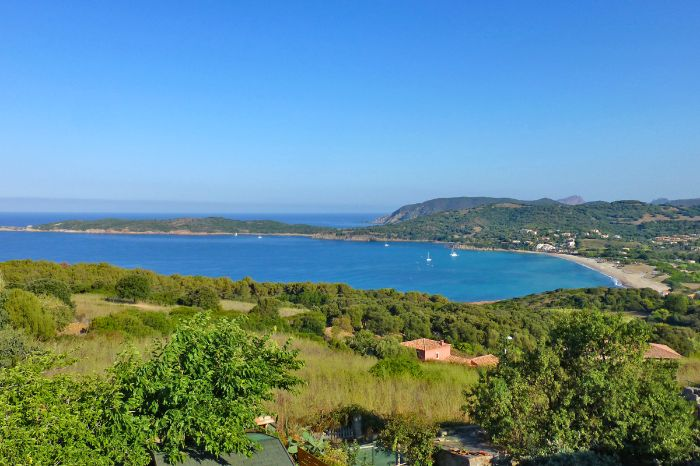 Fantastic panoramic view on Corsicas coastline