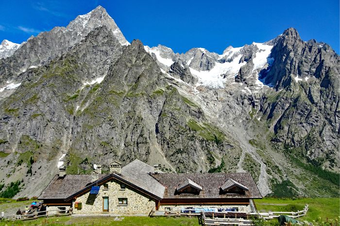 Traditional alpine hut