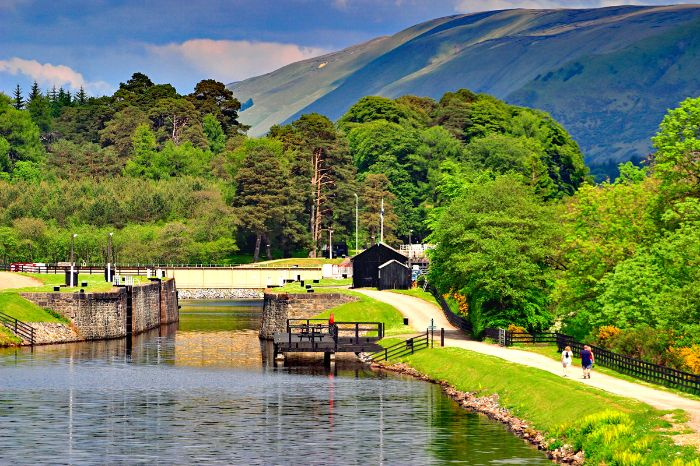 Caledonian Canal on the Great Glen Way