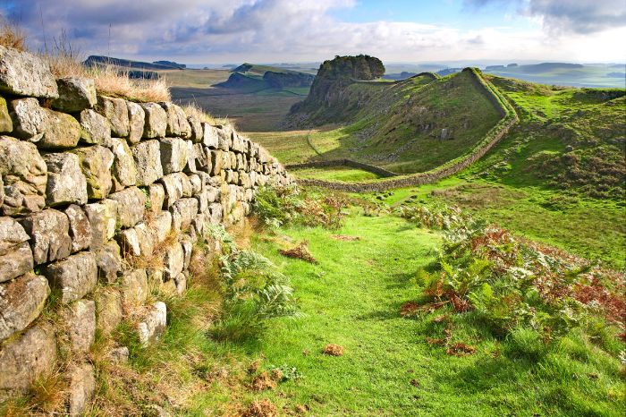 The Wall of the Hadrians Wall
