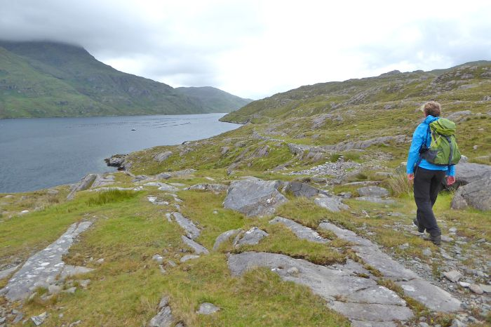 Lonely hiking trails through the stunning scenery of Ireland