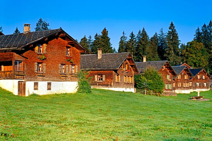 Enchanting cottages at the Bregenz Forest