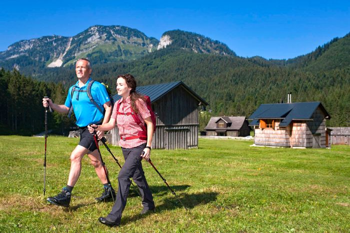 Hiking enjoyments at the Blaa Alp