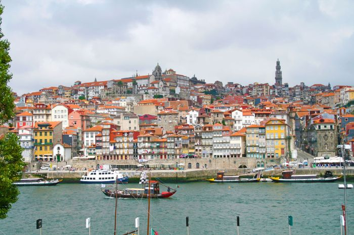 Cultural and walking highlights at the harbor of Porto