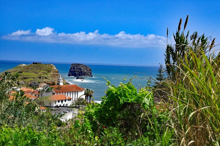 Unspoilt nature trails along Madeiras coastline at Porto da Cruz