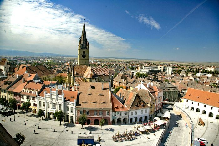 Charmante Altstadt in Sibiu