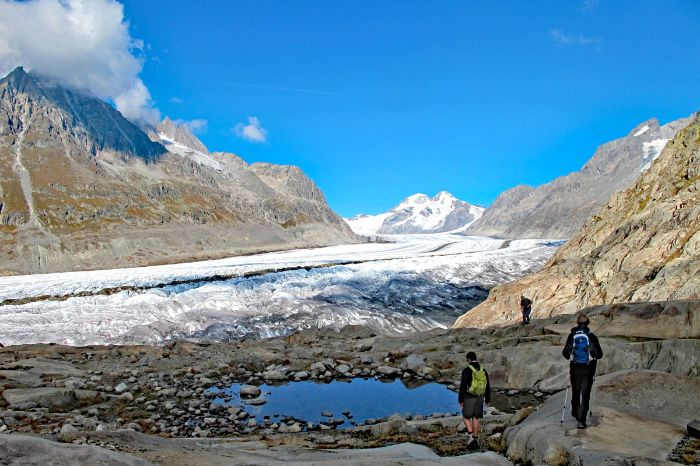 Hike to the Aletsch glacier