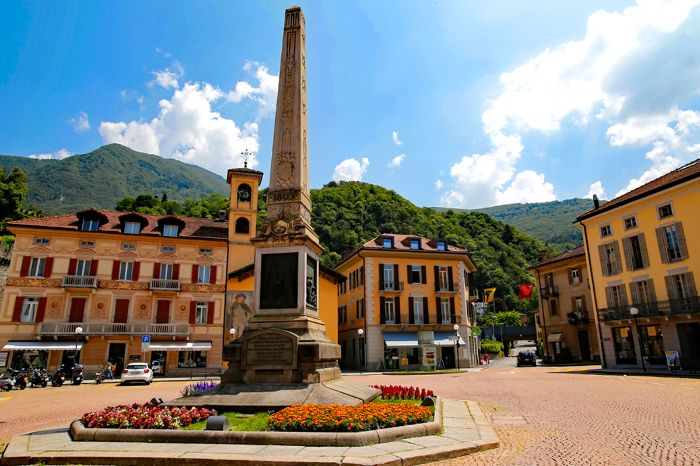 Independence square in Bellinzona