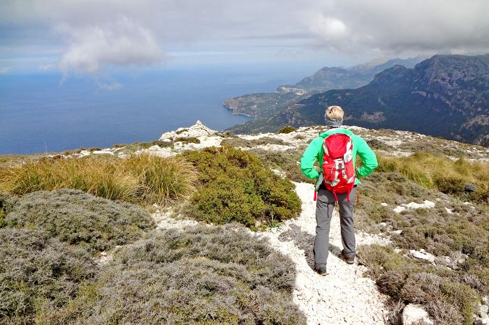 Mountain hiking on unspoilt coastal paths around Valldemossa