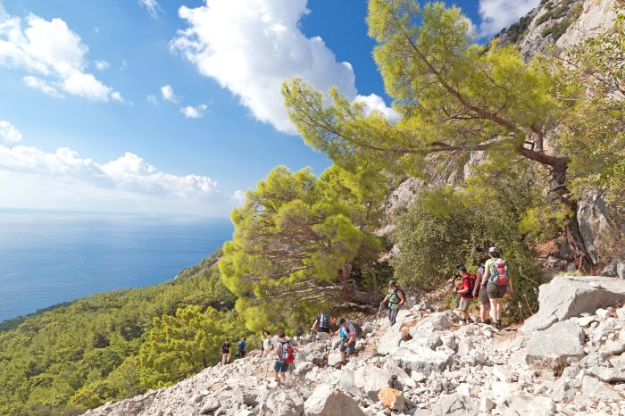 Coastal hiking at the Lycian Path