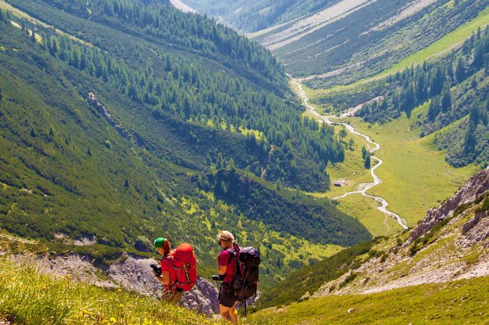 Trekking hikes with great mountain scenery