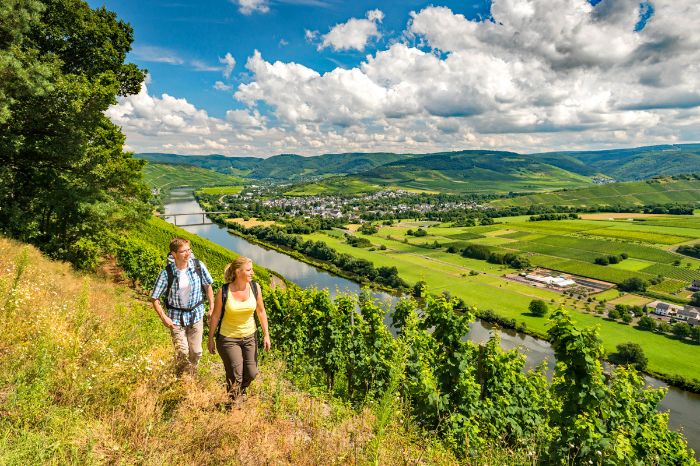 Hiking on beautiful trails along the Moselle