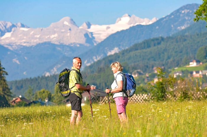 Relaxed hiking on trails around Altaussee