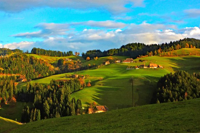 Beautiful Emmental countryside