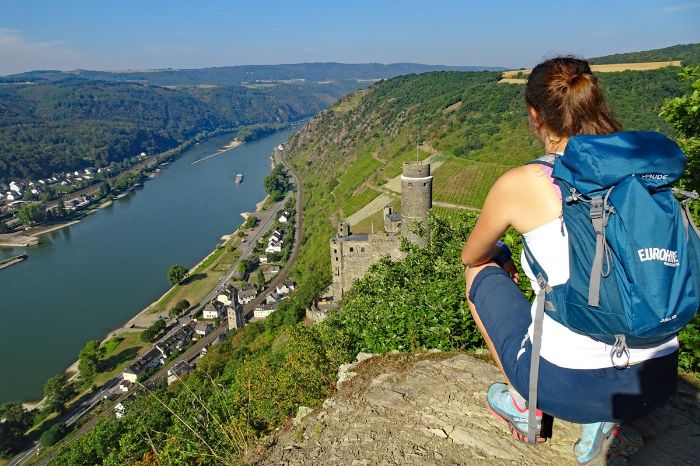 Hiker on the rhine walking tour