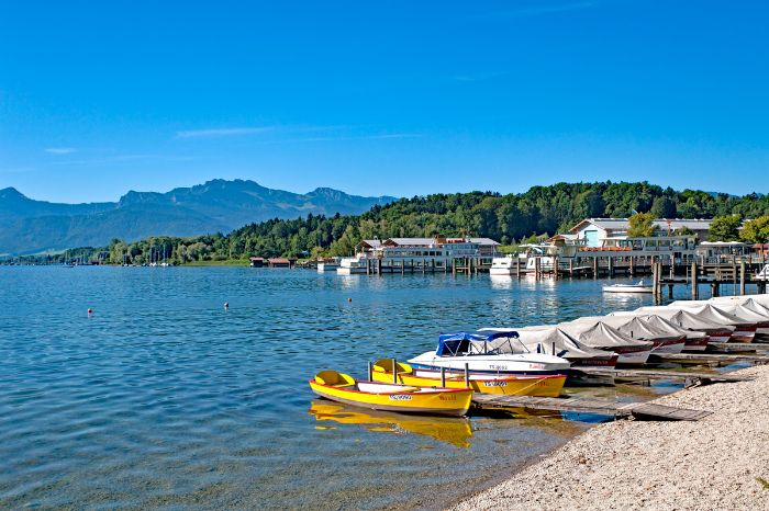 Idyllic boat trip at the Chiemsee
