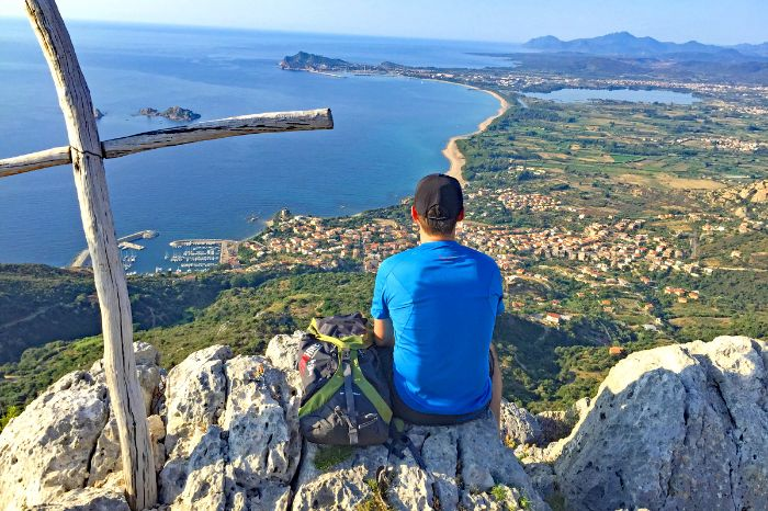 Scenic coastal view in Sardinia