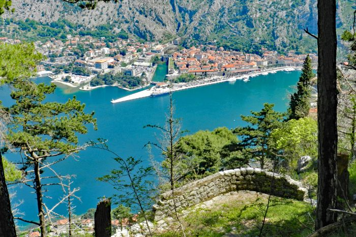 Hiking scenery towards the bay of Kotor