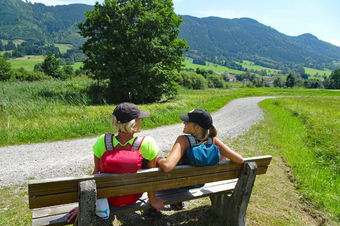 Having a break on your hiking trip King Ludwig Way