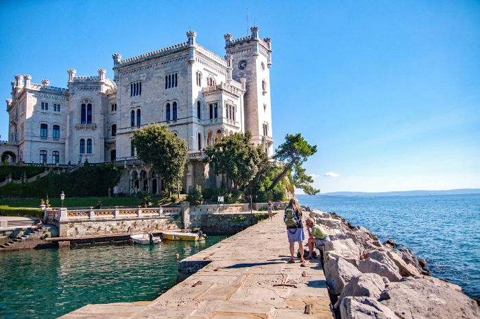 Castle Miramare on the hiking trail in Istria
