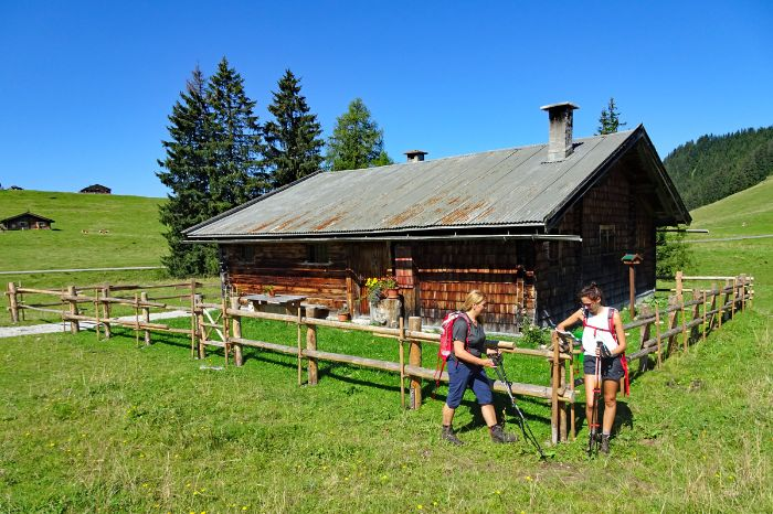 Traditionelle Hütte in den Chiemgauer Alpen