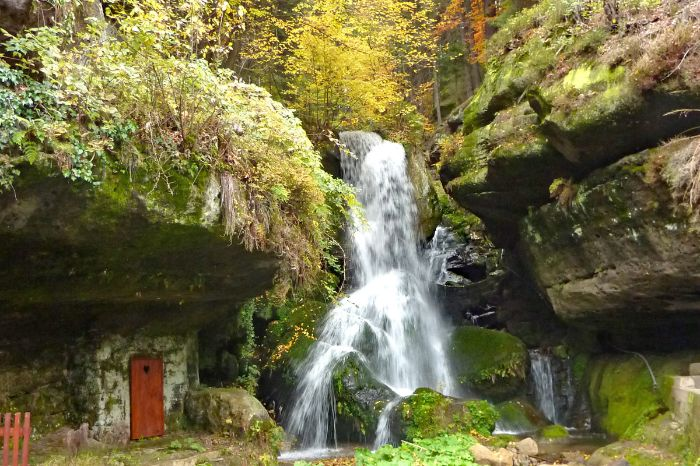Charming Lichtenhainer waterfall