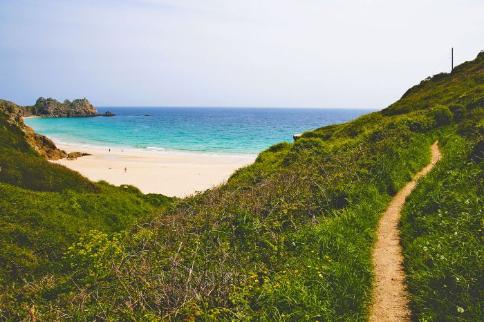 View on the surroundings of Porthcurno