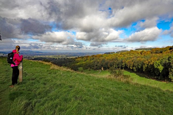 Panoramic view at the hiking tour Cotswolds und Shakespeare