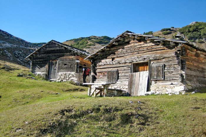 Mountan huts in South tyrol