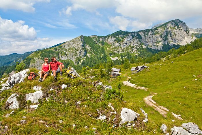 Hiking along the Alpe-Adria Trail in Slovenia