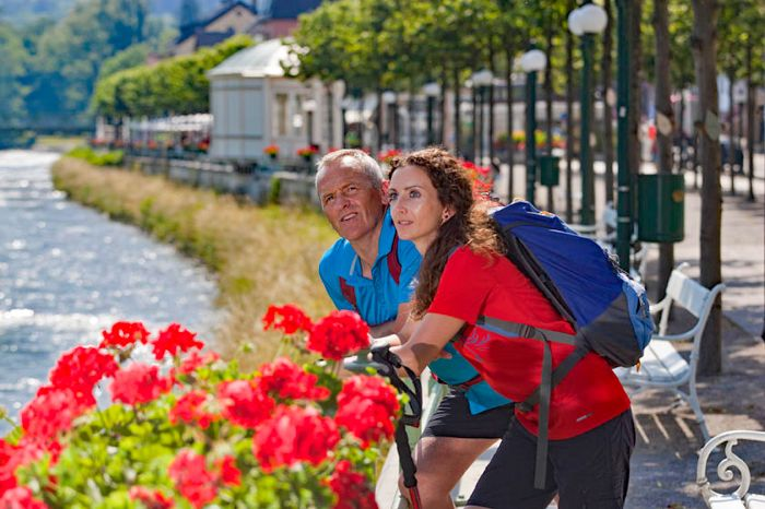 Hiking pleasures at the promenade of Bad Ischl