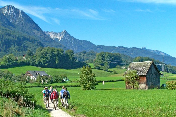 Lovely hiking trails in the Salzkammergut area