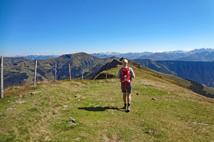 Hiking experience at the mountain Schwalbenwand