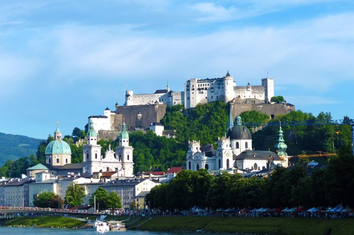 View to Hohensalzburg castle