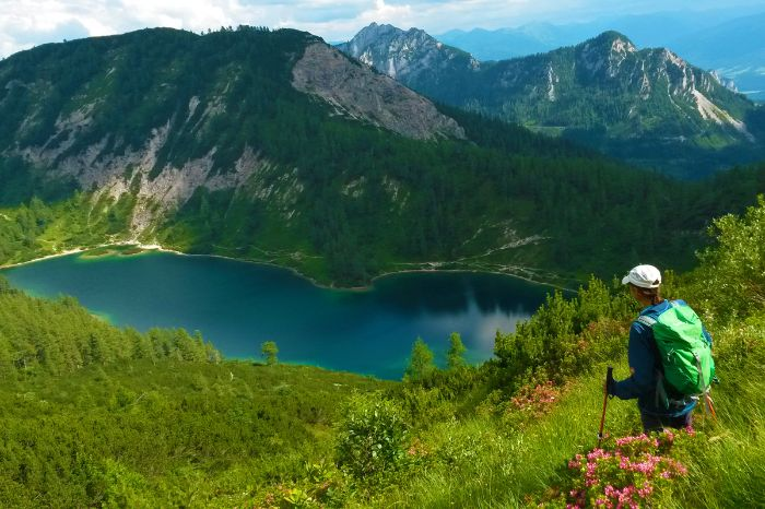 Hiker in the Styrian Salzkammergut