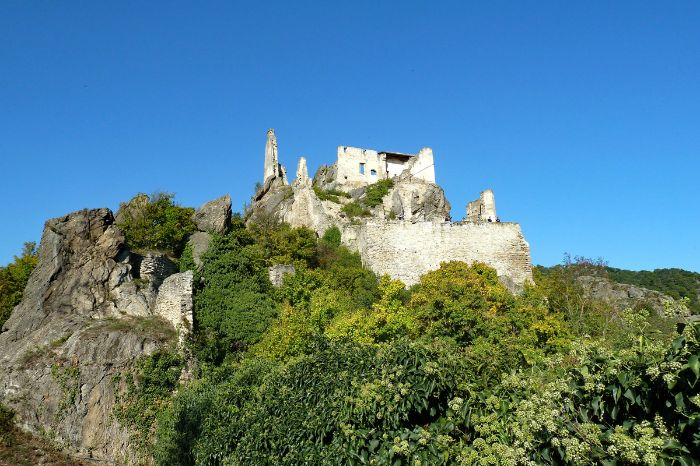 Ruins of Aggstein on the world heritage trail Wachau