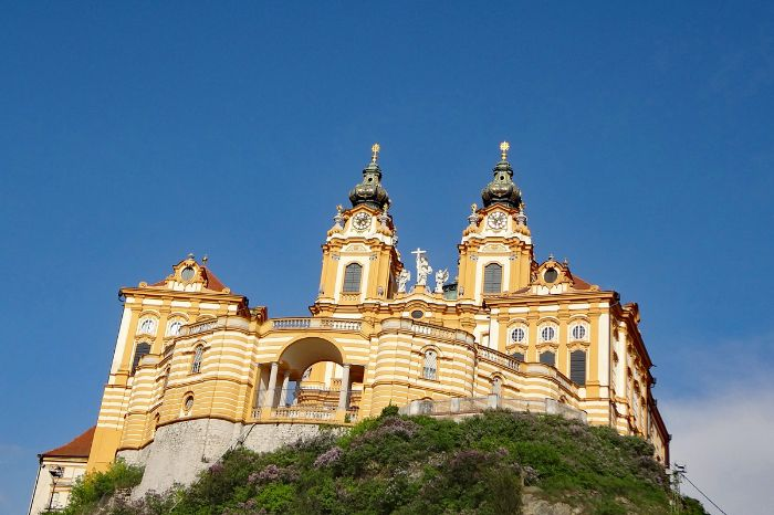 Melk abbey on the hiking trail Wachau