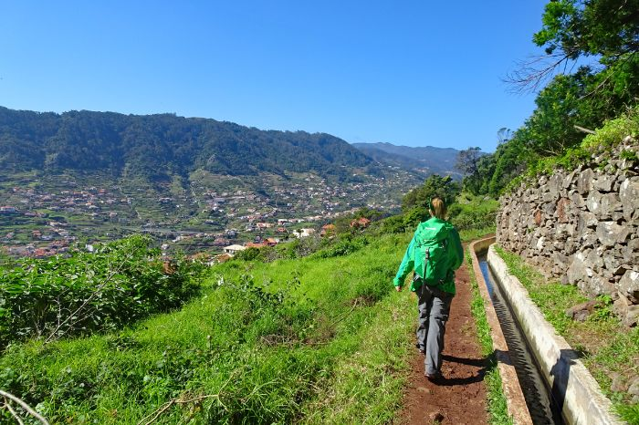 Hiking along unspoilt Levada trails high above Machico