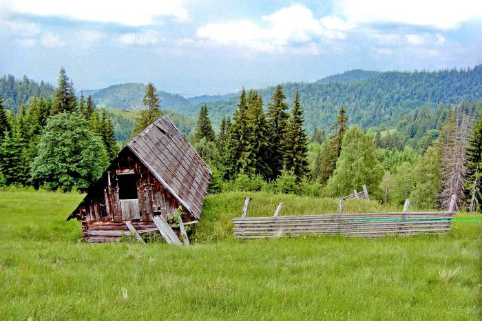 Charming countryside in Transylvania