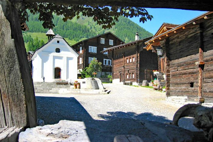 Typical village in the Canton of Valais