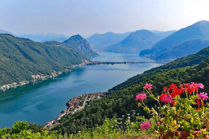 Wonderful view at Lake Lugano
