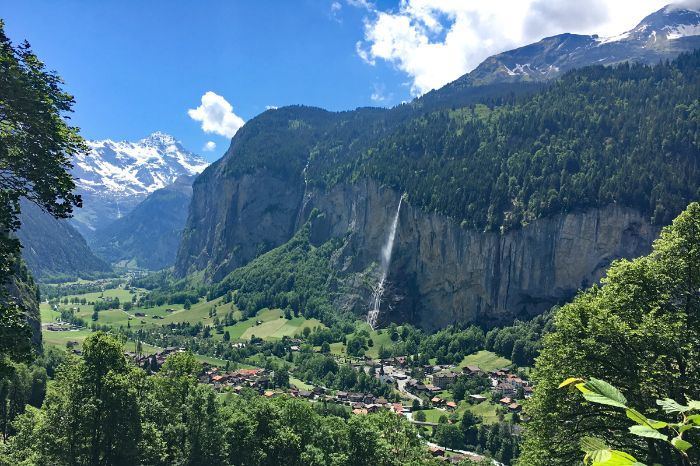 Impressive mountain landscape in Lauterbrunnen