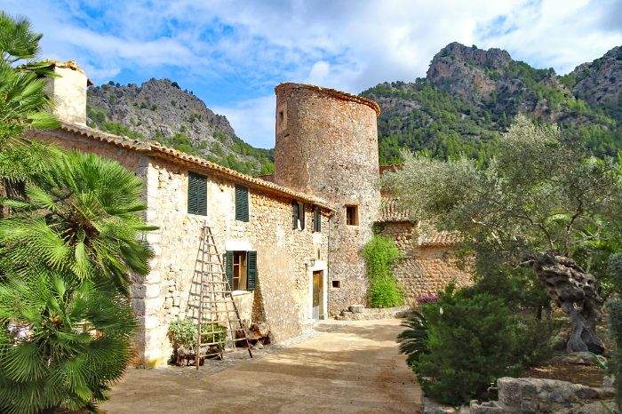 Traditional island life on Mallorca island
