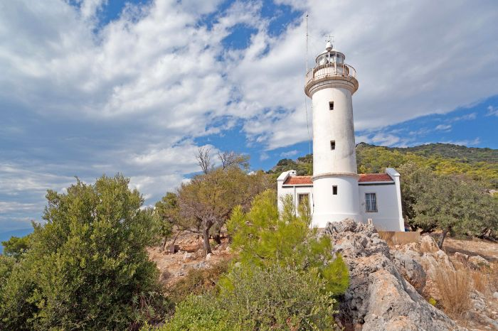 Lighthouse at the Mediterranean