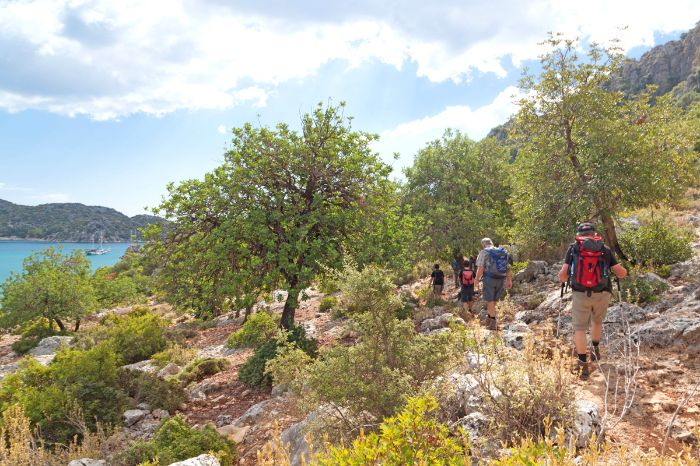 Hiking along the Lycian path